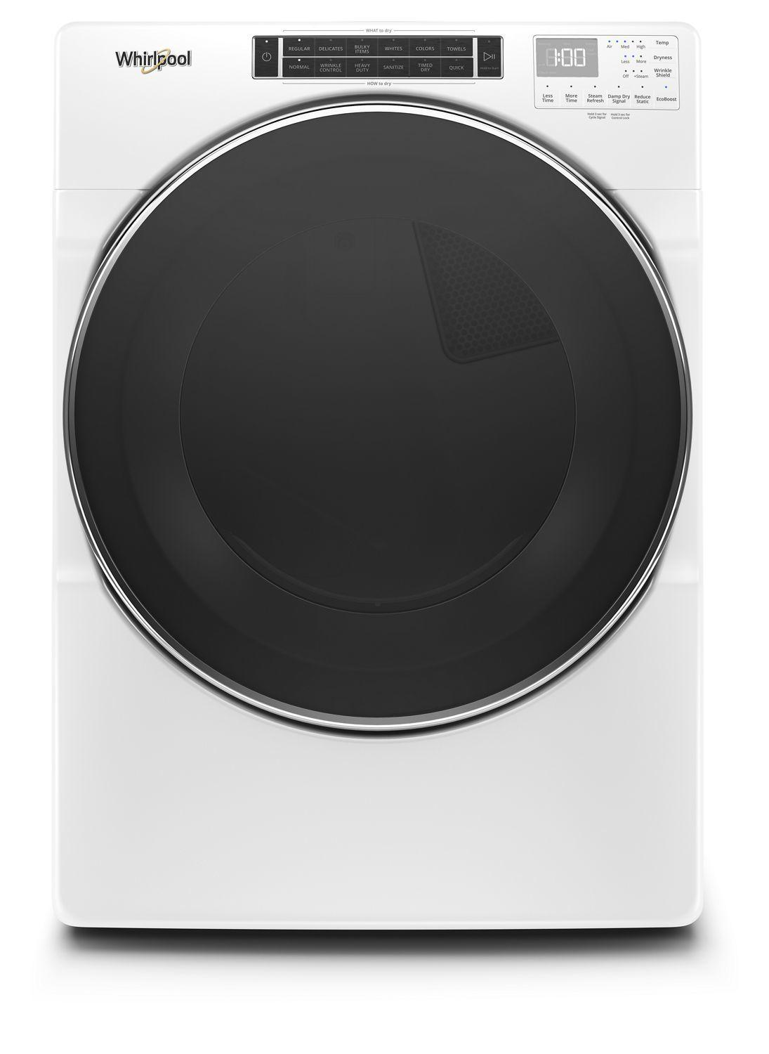 Whirlpool7.4 Cu. Ft. Front Load Gas Dryer With Steam Cycles White