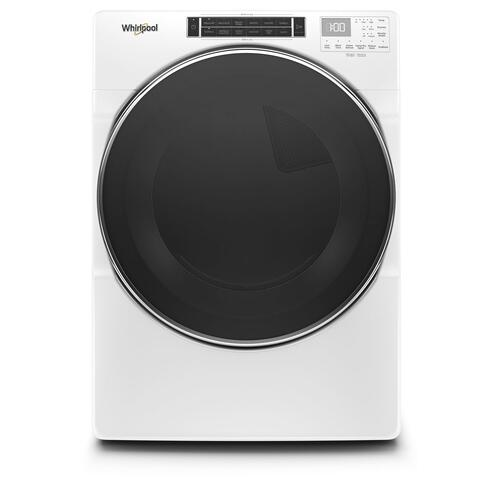 Gallery - 7.4 cu. ft. Front Load Gas Dryer with Steam Cycles White