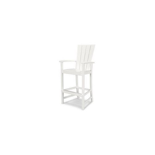 Polywood Furnishings - Quattro Adirondack Bar Chair in White