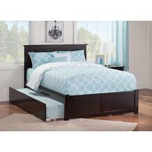 Nantucket Full Flat Panel Foot Board with Urban Trundle Bed Espresso