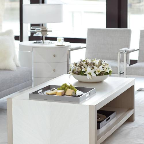 Axiom Cocktail Table in Linear Gray (381)