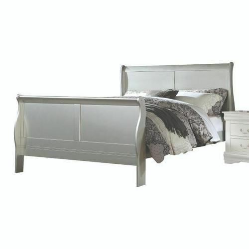 ACME Louis Philippe III Eastern King Bed - 26697EK - Platinum