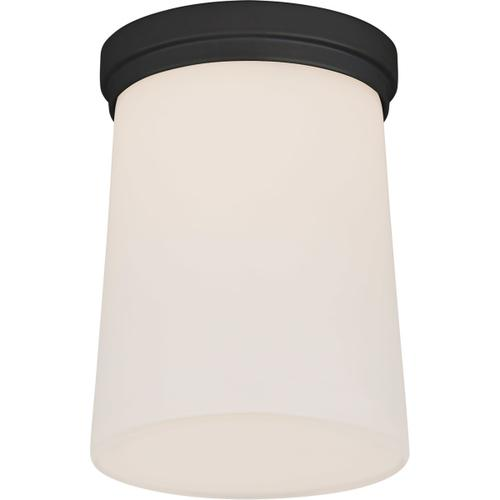 Barbara Barry Halo LED 5 inch Matte Black Solitaire Flush Mount Ceiling Light, Tall