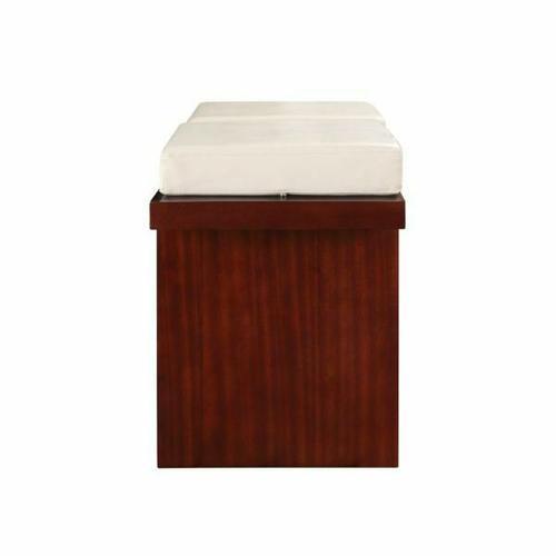 Acme Furniture Inc - ACME Keelin Counter Height Bench - 71044 - Beige PU & Espresso
