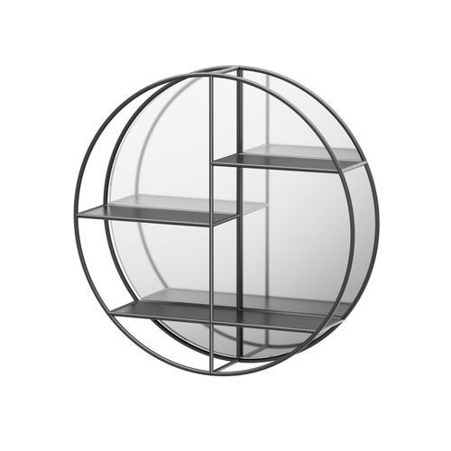 Decor Shelf Mirror in Matte Black