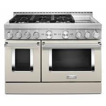 See Details - KitchenAid® 48'' Smart Commercial-Style Gas Range with Griddle - Milkshake