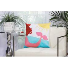 "Outdoor Pillows L3164 Multicolor 18"" X 18"" Throw Pillow"