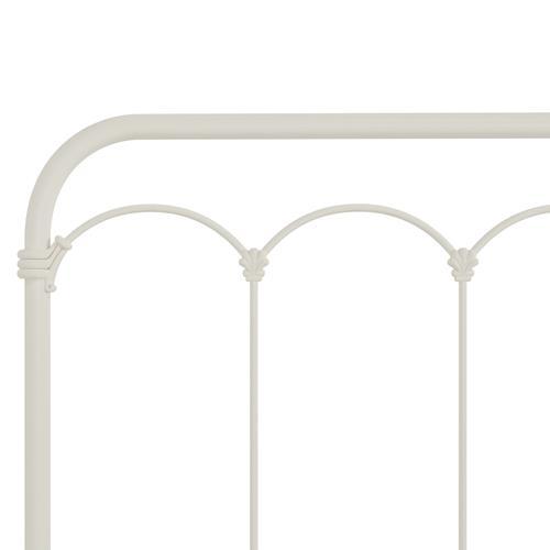 Jocelyn Full Metal Bed, Textured White