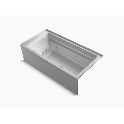 """Ice Grey 72"""" X 36"""" Integral Apron Whirlpool + Heated Bubblemassage Air Bath With Right-hand Drain"""