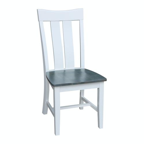 Ava Chair in Heather Gray & White
