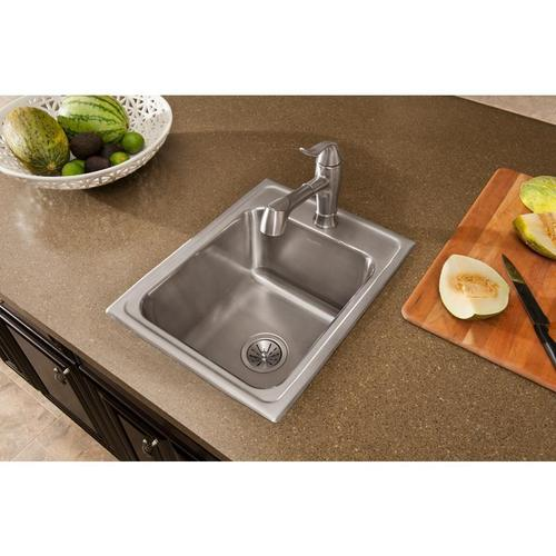 Elkay - Elkay Explore Single Hole Bar Faucet with Pull-out Spray Lever Handle Brushed Nickel
