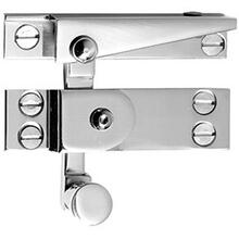 Antique Brass Unlacquered Straight arm sash fastener with lock