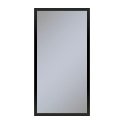 """Profiles 15-1/4"""" X 30"""" X 6"""" Framed Cabinet In Matte Black With Electrical Outlet, Usb Charging Ports, Magnetic Storage Strip and Left Hinge"""