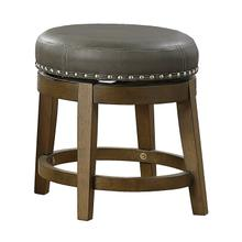 See Details - Round Swivel Stool, Gray