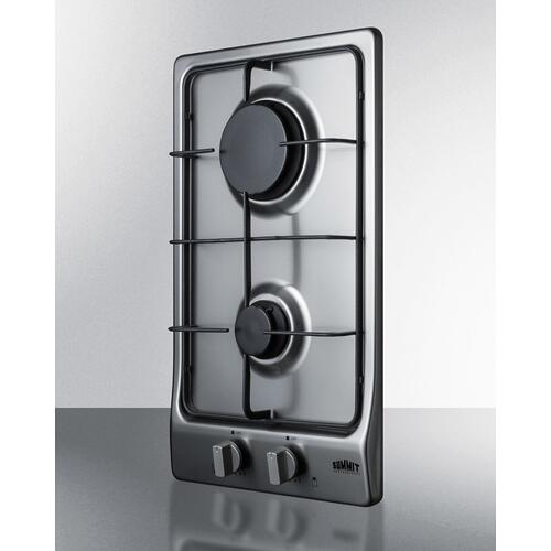 "12"" Wide 2-burner Gas Cooktop"