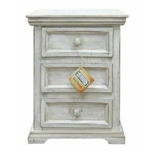 Million Dollar Rustic - Small White Coliseo Night Stand