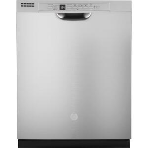 GE® Front Control with Plastic Interior Dishwasher with Sanitize Cycle & Dry Boost - STAINLESS STEEL