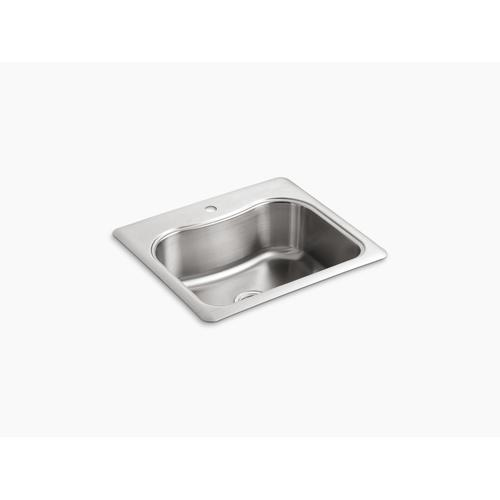 "25"" X 22"" X 8-5/16"" Top-mount Single-bowl Kitchen Sink With Single Faucet Hole"