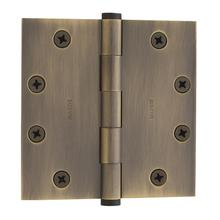 Satin Brass and Black Square Corner Hinge