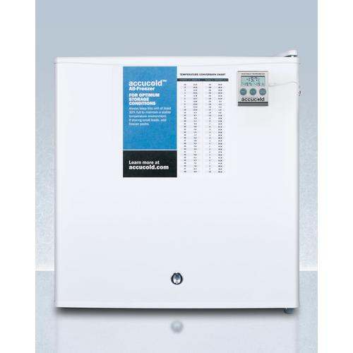 Summit - Compact Commercially Listed All-freezer, Manual Defrost With A Lock and Nist Calibrated Thermometer