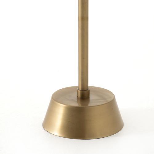 Antique Brass Finish Raisa Terrazzo Accent Table