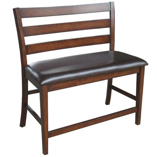 Kona Ladder Counter Bench  Raisin