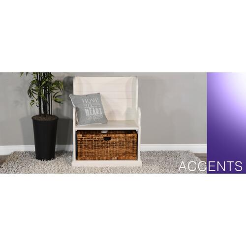 Sunny Designs - Hall Seat w/ Rattan Basket