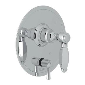 Pressure Balance Trim with Diverter - Polished Chrome with Metal Lever Handle