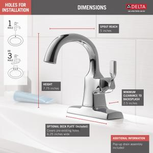 Chrome Single Handle Bathroom Faucet Product Image
