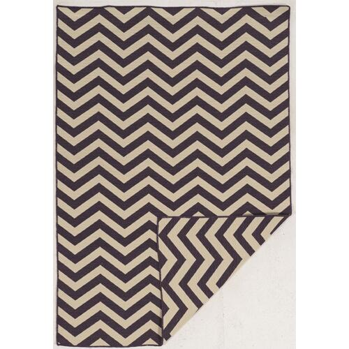Saloniki Chevron Purple 5ft X 8