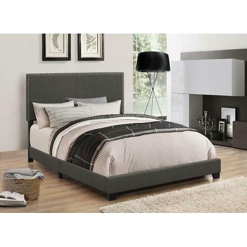 Boyd Upholstered Charcoal Full Bed