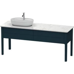 Vanity Unit For Console Floorstanding, Night Blue Satin Matte (lacquer)