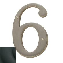 View Product - Satin Black House Number - 6