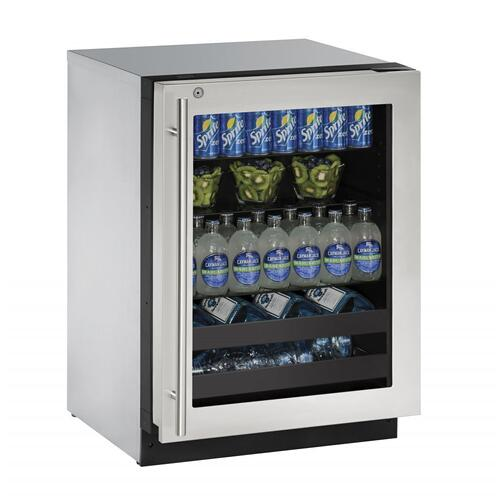 "U-Line - 2224bev 24"" Beverage Center With Stainless Frame Finish and Right-hand Hinge Door Swing (115 V/60 Hz Volts /60 Hz Hz)"