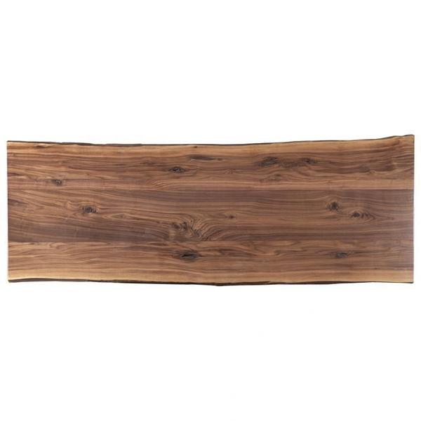"""See Details - Crotch Walnut 109"""" Dining Table Top"""