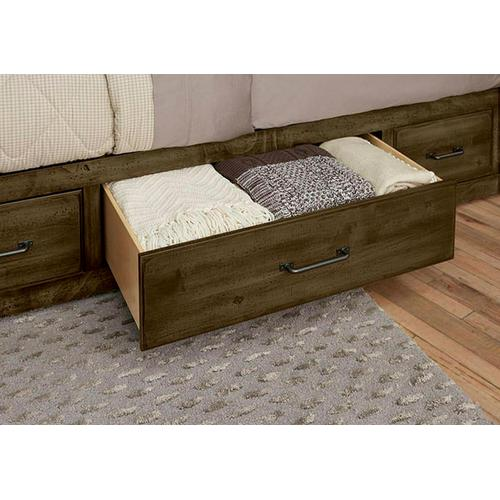 X Bed with 1 Side Storage