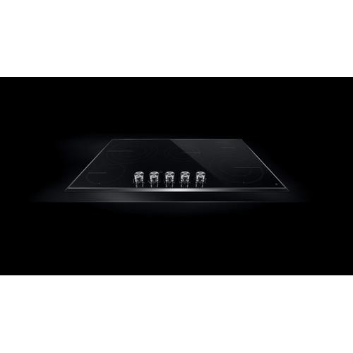 """JennAir - Lustre Stainless 36"""" Electric Radiant Cooktop Stainless Steel"""