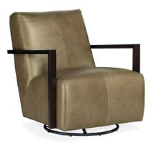 Living Room Modestus Exposed Arm Swivel Glide Club Chair