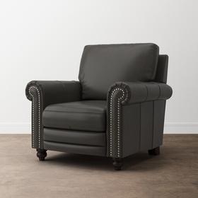 Jackson Charcoal Jackson Leather Recliner w/Power