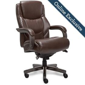 Delano Big & Tall Executive Office Chair, Chestnut Brown with Distressed Wood