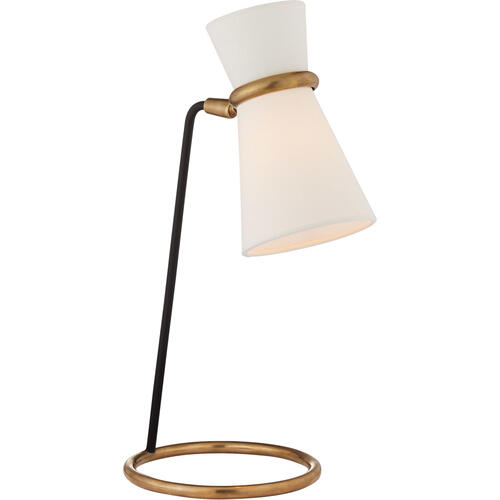 AERIN Clarkson 17 inch 40 watt Black and Brass Table Lamp Portable Light