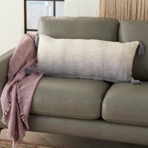 "Life Styles Aq130 Grey 14"" X 30"" Throw Pillow"