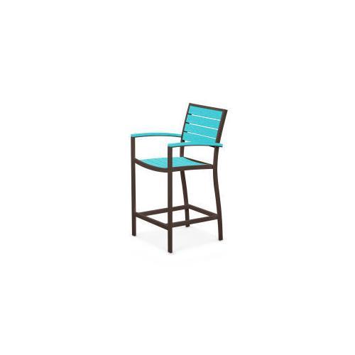 Polywood Furnishings - Eurou2122 Counter Arm Chair in Textured Bronze / Aruba