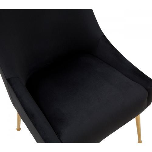 Gallery - Modrest Castana - Modern Black Velvet & Gold Dining Chair (Set of 2)