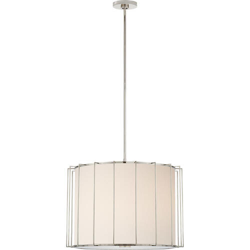 Barbara Barry Carousel 2 Light 24 inch Polished Nickel Lantern Pendant Ceiling Light, Large Drum