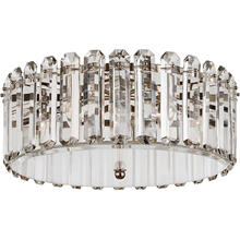 AERIN Bonnington 5 Light 25 inch Polished Nickel Flush Mount Ceiling Light, Large