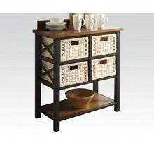 Console Table With 4 Baskets