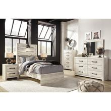 Cambeck - Whitewash Twin Bedroom Set: Twin Bed, Nightstand, Dresser & Mirror