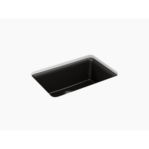 """Matte Beige 27-1/2"""" X 18-5/16"""" X 9-1/2"""" Neoroc Undermount Single-bowl Kitchen Sink With Rack"""