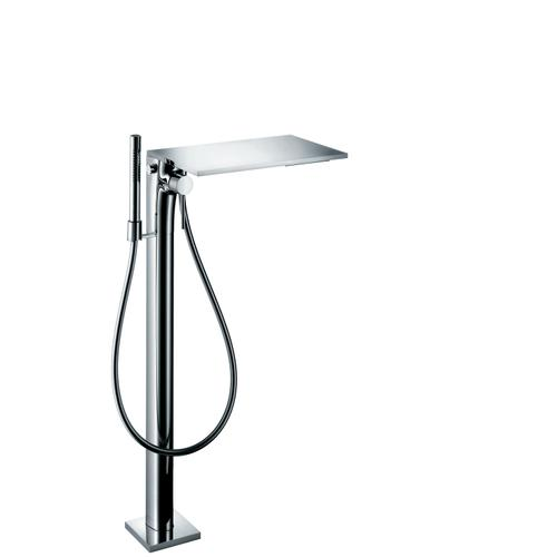 Brushed Nickel Single lever bath mixer floor-standing